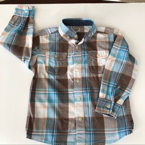 Osh Kosh Plaid Shirt  Boy's Size 5